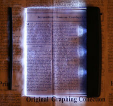 LED Light Wedge Flat Panel Book Reading Lamp Paperback Night