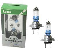 2 x LUCAS H7 LightBooster Upgrade Bulbs 130% Brighter 12V 55W 477 499 Headlight