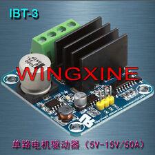 Latest IBT-3 DC 50A 5V-15V Stepper Motor Driver Module H-Bridge Double PWM