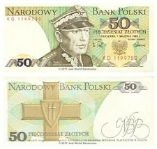 Poland 50 Zlotych 1988 P-142c Banknotes UNC