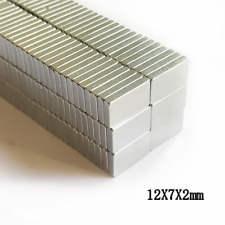 Neodymium Block Magnets 12mm X 7mm X 2mm Small Strong Thin Neo Magnets 12x7x2 Mm