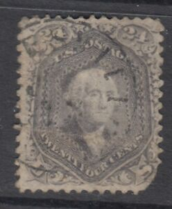 USA Scott #78b  24 cent  Washington grey  HCV $310