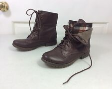 ROCK & CANDY Pixie Boots Plaid Lined Women's 7