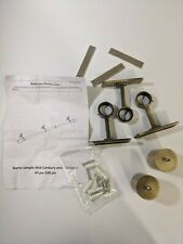 West Elm Metal Carbon in Brass Hardware for Curtain Rod Used Rod not Included