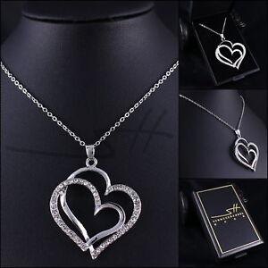 Halskette & Anhänger Herz, Kette Damen, Silber, im Etui, Schmuckhandel Haak®