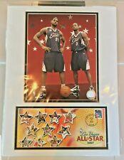 2007 LeBron James & Dwayne Wade All-Star Photo & USPS Feb 18, 2007 Artwork Cover