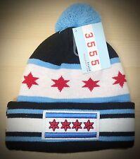 CHICAGO Winter Skull hat - CHICAGO FLAG