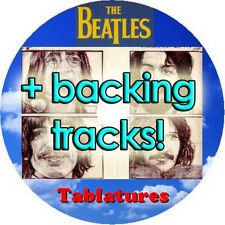 BEATLES BASS & GUITAR TAB CD + BACKING TRACKS TABLATURE GREATEST HITS BEST MUSIC