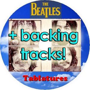 BEATLES BASS & GUITAR TAB CD + BACKING TRACKS TABLATURE GREATEST HITS BEST MUSIC