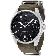 Glycine Men's 3890.191AT.TB2 Combat 6 Vintage Automatic 43mm Black Dial - GL0122