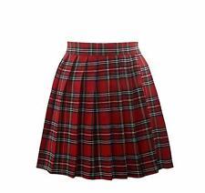 Japanese Women Tennis Plaid Pleated Mini Skirt School Girl Skater Skirt Shorts