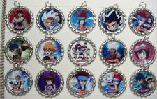 15 Beyblade Silver Flat Bottle Cap Necklaces Set 3