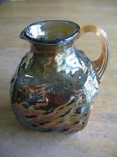 Bluish Lusterware/Glass Creamer, Iridescent Finish, c. late 19th Century