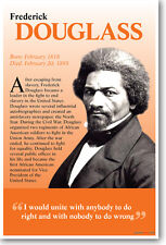 Frederick Douglass - I Would Unite With Anybody To Do Right - New School Poster