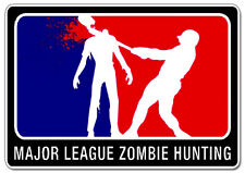 Major League Zombie Hunting Hunter Permit Zombie Outbreak Car Decal Sticker