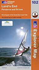 Land's End, Penzance and St Ives (Explorer Maps) (OS Explorer Map), Acceptable,