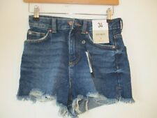 Denim & Co UK 6/ 34 NEW blue denim shorts High Waist - short