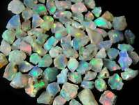 Ethiopian Opal  Natural Flashing Jumbo Untreated Rough Lot, 4-12MM HY02