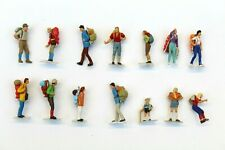 More details for 14 x preiser hikers hiking painted figures joblot ho gauge 1/87 scale b6