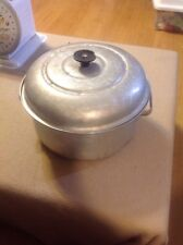 Vintage Royal Chef No 164 Aluminum Stock Pot With Black Round Handle