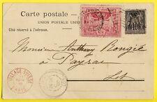 cpa EXPO 1900 PARIS Cachets, Timbrées par des SUISSESSES Litho COSTUME LUCERNOIS