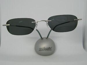 Silhouette 7581 Satin Silver 6060 19-150 Drill Rimless Titan Eyeglass Frame- NEW