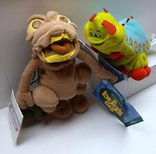 "Lot of 2 Disney Pixar 8"" Bean Bag Plush 'A Bugs Life' PT Flea & Heimlich NWT"