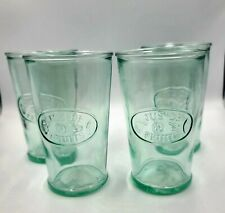 Amici Home Clear Green Jus De Fruits Kitchen Drinkware Glass 11oz, set of 4, NEW