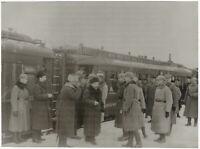 1. Weltkrieg, Russische Delegation in Brest-Litowsk, Orig-Pressephoto um 1917