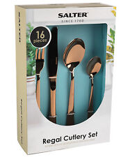 Salter Regal Rose Gold 16 Piece Stainless Steel Cutlery Set