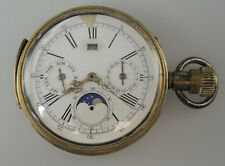 Rare MINUTE REPEATER Moonphase Chronograph Pocket Watch Mov c1890