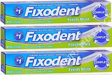 Fixodent Denture Cream FRESH MINT 2.4oz ( 3 Pack ) FRESH PHARMACY STOCK
