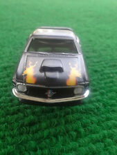 Rare 1970 Mat Black Flamed Mustang T-Jet HO Scale Slot Car Body For Aurora Dash