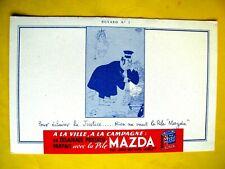 BUVARD publicitaire La Pile Mazda Pour éclairé la justice ...