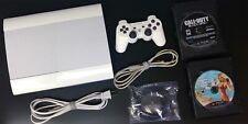 SONY PLAYSTATION 3 PS3 SUPER SLIM 💥500GB💥 Console WHITE OEM Controller 3 Games