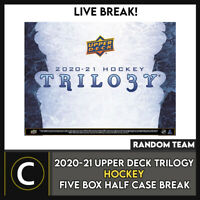 2020-21 UPPER DECK TRILOGY HOCKEY 5 BOX FULL CASE BREAK #H1112 - RANDOM TEAMS