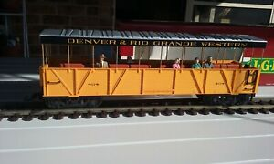 Trains G Scale LGB Open Carriage Yellow 30260 in Original Box