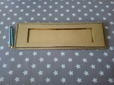 """Sprung Letter Plate box Polished Brass large georgian style 11"""""""