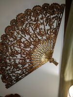 Vintage Burwood Wall Hangings TWO Fans