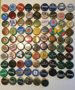 87 different used world beer caps M1