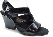 1db22c9012a Aerosoles Gold Dust Black Patent Leather Slingback Wedge Sandal Pumps 8.5   89