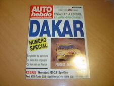 Auto hebdo N°706 Saab 9000 / BMW 535 i /Opel 3000