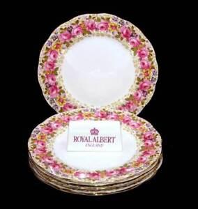 Vintage Royal Albert Serena set of 6 large dinner plates