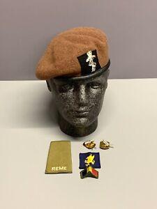REME / Royal Wessex Yeomanry Beret, TRF, Slide & Collar Badges. Size 56cm.