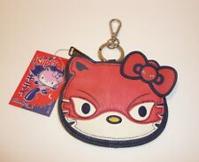 Super Hello Kitty Zipper Coin Purse Wallet by Loungefly Lounge Fly Red Masked