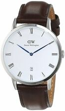 DANIEL WELLINGTON DEPPER BRISTOL BROWN LEATHER UNISEX WATCH 1123DW
