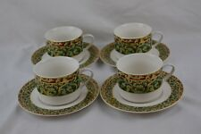 American Atelier Christmas Ornaments 5219 Set 4 Cups and Saucers