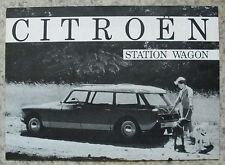 CITROEN DS STATION WAGON USA Car Sales Brochure 1960