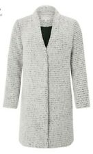 Monsoon Camilla Coatigan Coat Grey Woolen Size Medium Bnwt