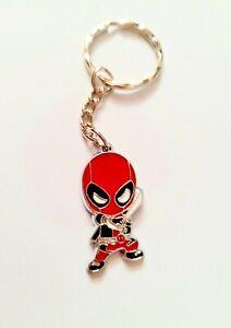 DEADPOOL Marvel Superhero Boys Girls Kids Enamel Keyring Keychain Gift UK